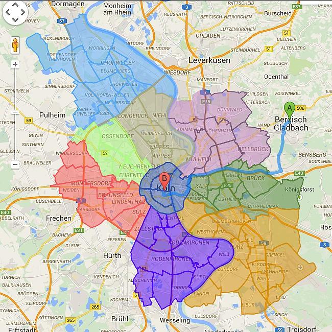 Kölner Bezirke
